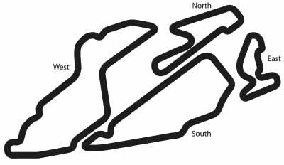 Bedford Autodrome Circuit Diagram