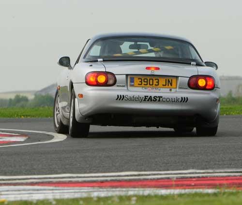 Mazda MX5 on track