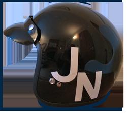 John Norrington crash helmet